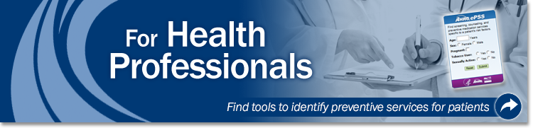 For Health Professionals Banner