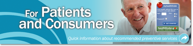 For Patients and Consumers Banner